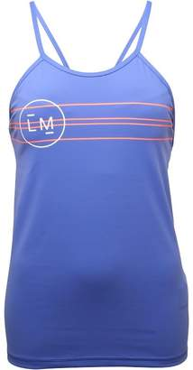 Reebok Womens LES MILLS Tank With Built In Padded Sports Bra Lilac Shadow