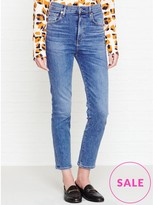 A Gold E AGOLDE Ruby High Rise Slim Straight Leg Crop Jeans