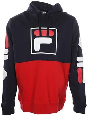 Fila Marzio Hoodie (Navy/Red/White) Men's Sweatshirt