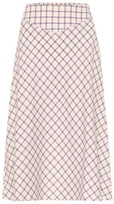 Baum und Pferdgarten Exclusive to Mytheresa Senga checked cotton midi skirt