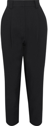 A.L.C. Colin Cropped Pleated Twill Tapered Pants