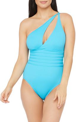 La Blanca Island Goddess Cutout One-Piece Swimsuit