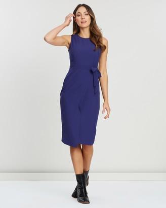 Closet London Tie V-Back Pencil Dress