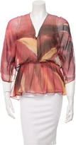 Alice + Olivia Silk Printed Top