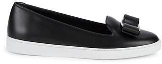 Salvatore Ferragamo Leather Bow Flats