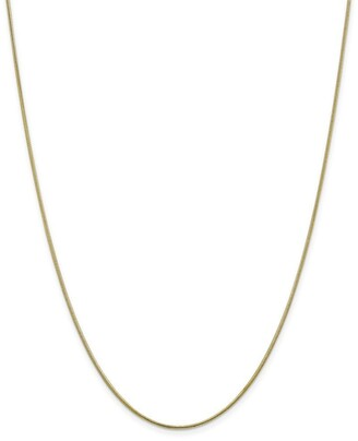 Curata 10k Yellow Gold 1.1mm Round Snake Chain Necklace