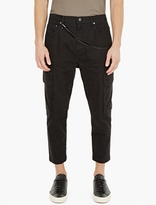 Helmut Lang Black Cotton Twill Cargo Trousers
