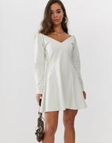 Asos DESIGN fit and flare mini sweat dress