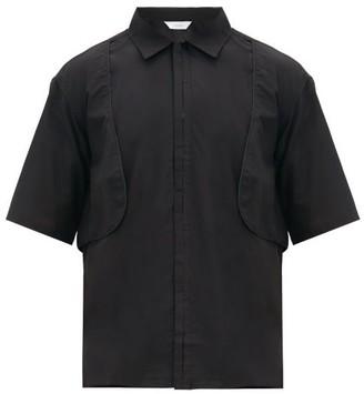 SASQUATCHfabrix. Layered Cotton-blend Short-sleeved Shirt - Black