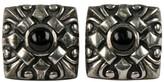 Scott Kay Scot Kay 925 Sterling Silver Onyx Square Ornate Cufflinks