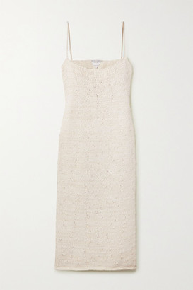 Bottega Veneta Cotton-blend Midi Dress - White