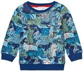 Little Marc Jacobs Blue Jungle and Leopard Print Sweatshirt
