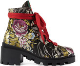 Gucci Women's Trip Jacquard Ankle Boots