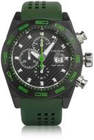Locman Stealth 300mt Green Carbon Fiber and Titanium Quartz Movement Men's Chronograph Watch