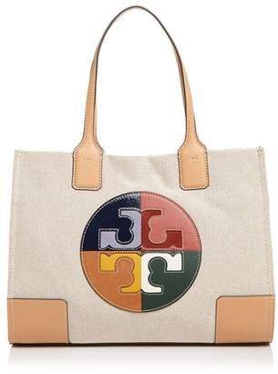 Tory Burch Ella Color-Block Logo Small Fabric Tote