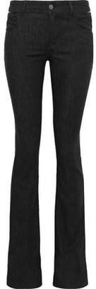 Tom Ford Leather-trimmed Low-rise Slim-leg Jeans