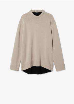 Derek Lam Oversized Contrast Back Cashmere Sweater