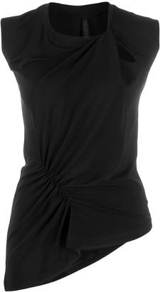 Unravel Project slim-fit asymmetric top