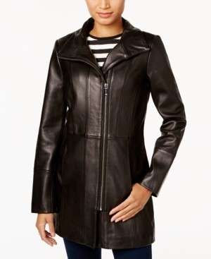 Cole Haan Asymmetrical Leather Jacket