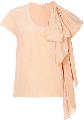 DELPOZO Bow Detail Blouse