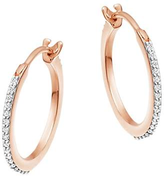 Missoma Cubic Zirconia Small Hoop Earrings, Gold
