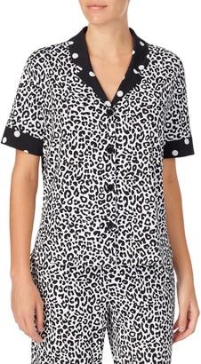 ROOM SERVICE Short Sleeve Notch Collar PJ Top