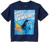 "Disney Pixar Finding Nemo Boys 4-7 ""Just Keep Swimming"" Tee"