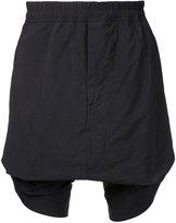 Niløs gathered drop crotch shorts - men - Nylon/Polyester - 1
