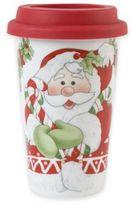 Fitz & Floyd Candy Cane Santa Travel Mug
