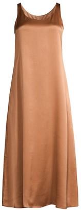 Eileen Fisher Silk Scoop-Neck Maxi Dress