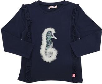 Billieblush Embellished L/s Cotton Jersey T-shirt