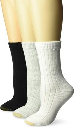 Gold Toe Women's Ultra Soft and Cozy Geo Crew Socks 3 Pairs