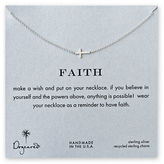 Dogeared Faith Sideways Cross Necklace