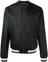 Dolce & Gabbana zipped bomber jacket - men - Calf Leather/Polyester/zamac - 48