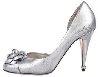 Chanel Camellia Metallic Pumps