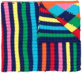 Mira Mikati contrast pattern scarf