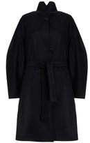 Carin Wester Fernanda Coal Oversized Virgin Wool-Blend Coat