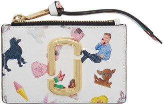 Marc Jacobs Multicolor Small Sugar Snapshot Top Zip Card Holder