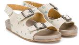 Pépé star print buckled sandals - kids - Leather/Suede/rubber - 22