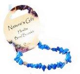 Proenza Schouler Set of 6 Beaded Gemstone Chip Fashion Jewelry Bracelet, Turquoise