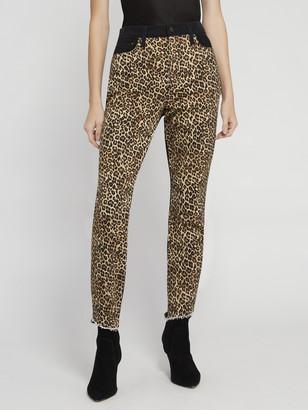 Alice + Olivia Good High Rise Leopard Skinny Jean