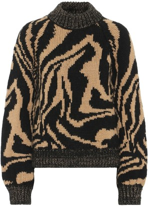 Ganni Alpaca and wool-blend sweater