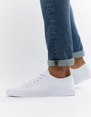 Asos Design DESIGN sneakers in white canvas