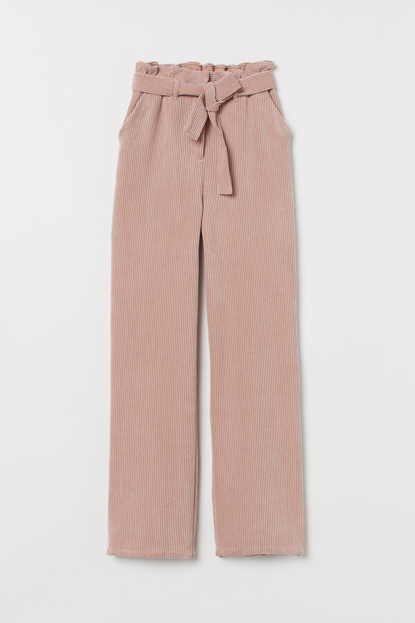 H&M Corduroy paper bag trousers