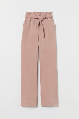 H&M Corduroy paper bag trousers