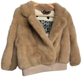 Simonetta Ravizza Beige Mink Leather jackets
