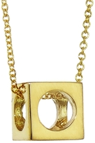 Jennifer Meyer Cube and Circles Necklace - Yellow Gold