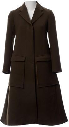 Celine Khaki Wool Coat for Women