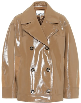 Ganni Patent faux leather jacket