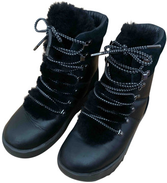 UGG Black Leather Lace ups
